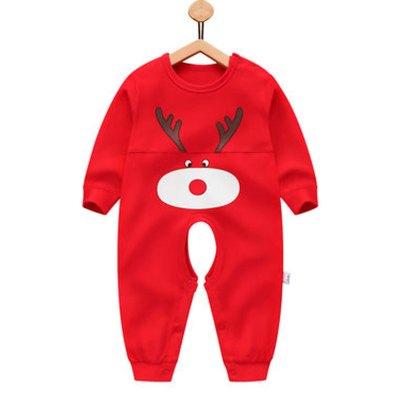 婴儿衣服 新生哈衣儿童睡衣 宝宝0-6个月爬爬服可爱卡通小孩子内衣