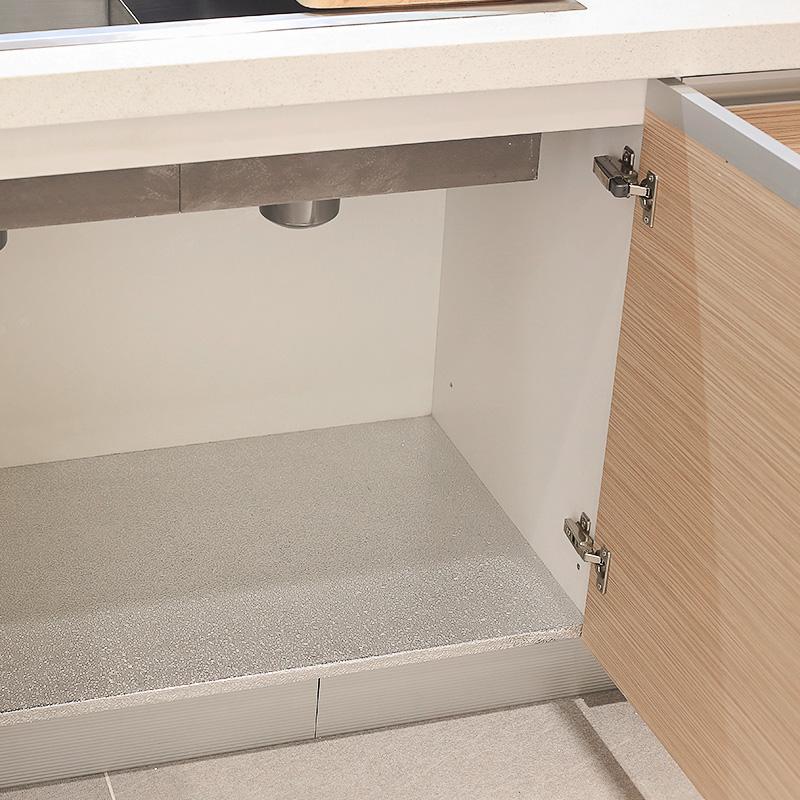 佰丽爱家整体橱柜定制 简约现代田园风进口爱格板环保厨柜石英石台面多功能灶台柜整装定制