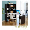A-STYLE学生书桌带书柜书架组合转角电脑桌台式家用简约儿童学习写字桌