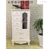 A-STYLE欧式酒柜储存柜小户型专用实木抽屉餐边柜美式白色描金厨房柜