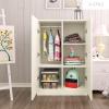 A-STYLE儿童多功能简易小型衣柜子简约现代韩式公主卧室矮衣橱经济型木质A款暖白2门