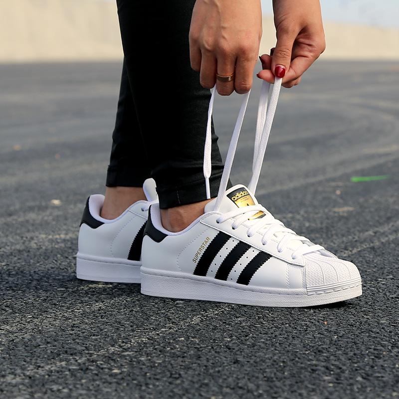 Adidas阿迪达斯男鞋女鞋三叶草SUPERSTAR 金标贝壳头经典情侣鞋小白鞋运动