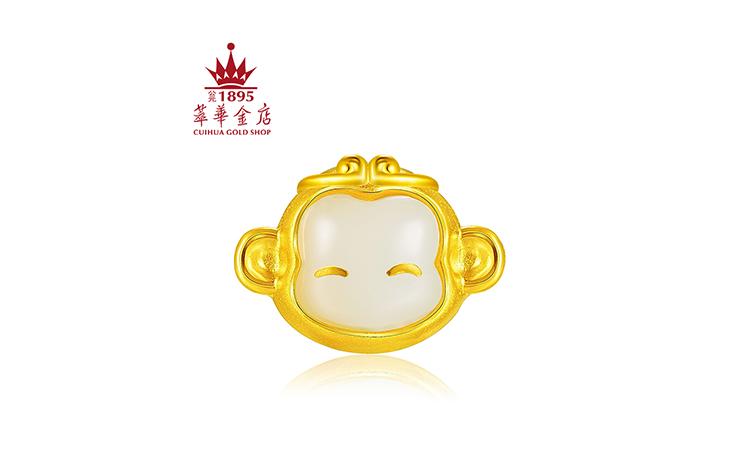 黄金猴子囹�a_001期 和田玉硬金猴子黄金手链