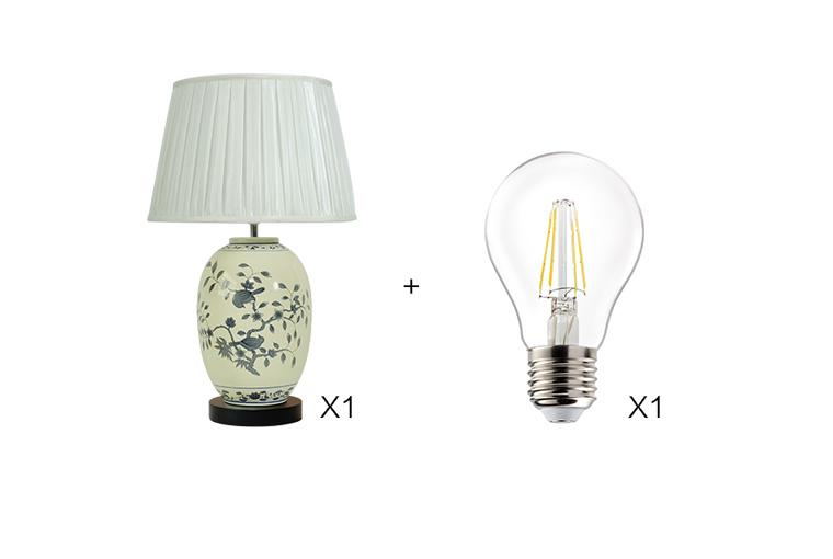 木林森创意陶瓷台灯图片