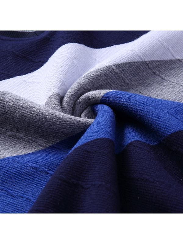 花花公子2017冬季新款男士假两件针织衫 加绒保暖针织毛衣 9302