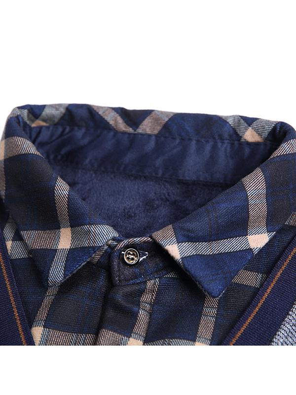 花花公子2017冬季新款男士假两件针织衫 加绒保暖针织毛衣 9303