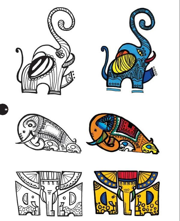 图案设计500例——人物&动物(升级版)