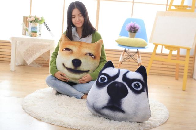 绒翼3D滑稽狗神烦表情狗头柴犬doge二哈方观赏谢谢表情包gif图片