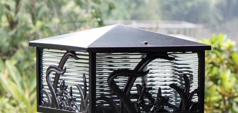 朗吉蒂柱头灯围墙灯方形门柱灯庭院灯中式复古户外景观路灯草坪灯2277图片
