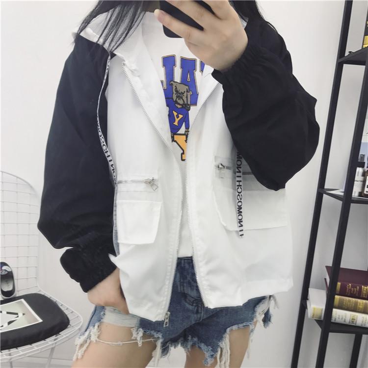 902新款初中外套防晒衣学生女夏装2017新款韩初中作文英语口语图片