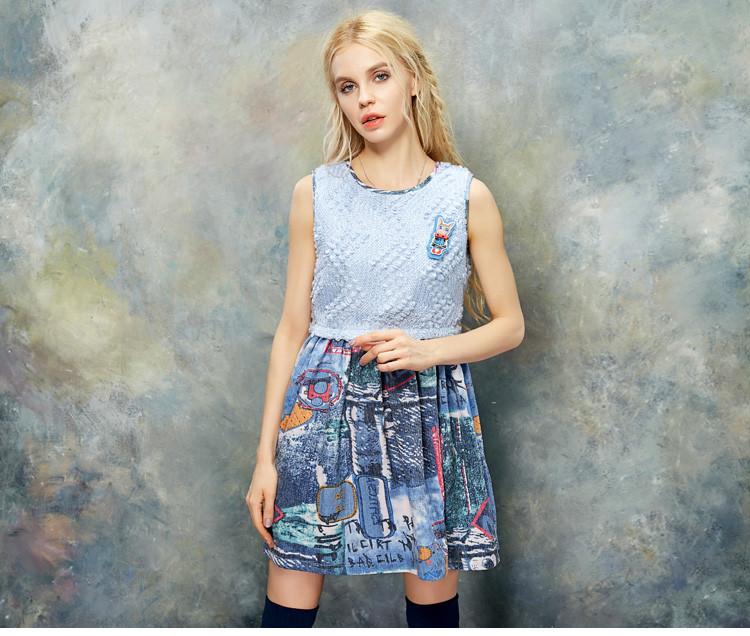 妖精的口袋【elf sack】冒险岛 秋装胸针装饰撞色拼接连衣裙 pb