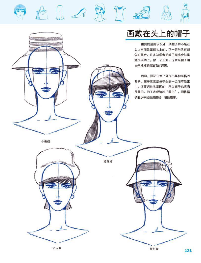 正版包邮 时装设计手绘表现---零基础学画人体造型 服装 时尚单品-w