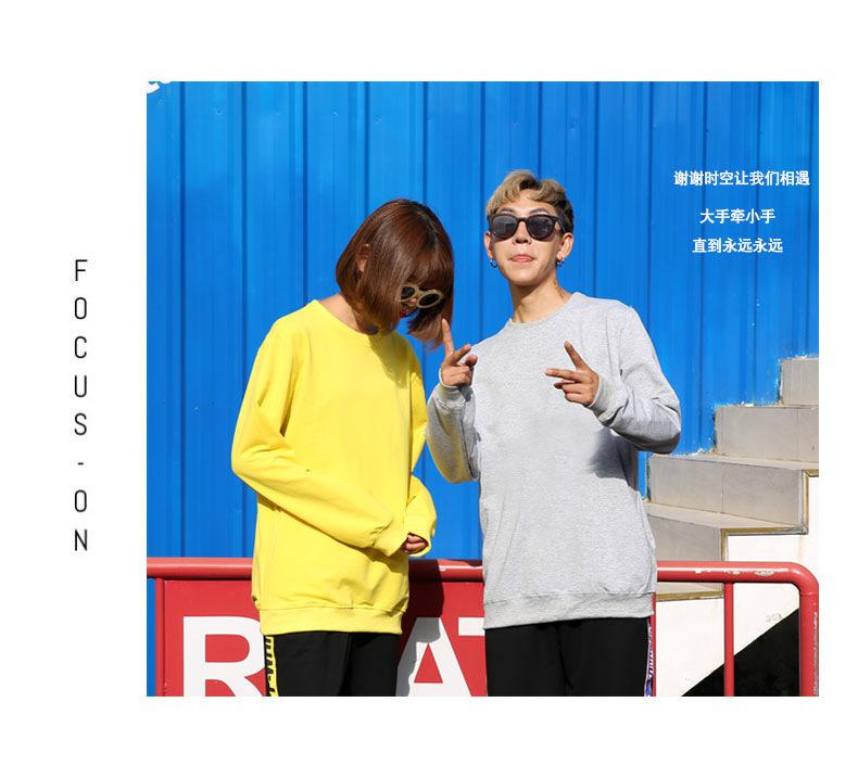 UYUK高中卫衣潮青少年情侣男女学生款帅气上阶段广州高中图片
