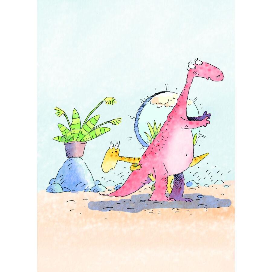 恐龙园明信片手绘