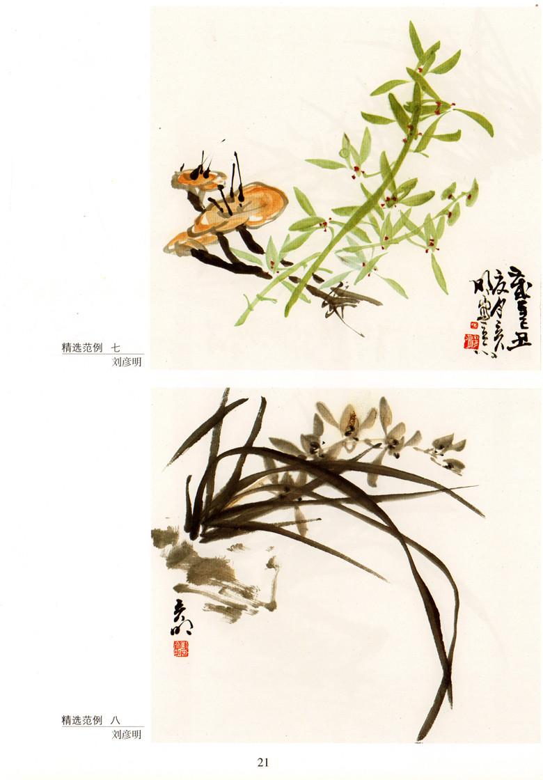 《中国画技法基础教学:兰花的画法》刘彦明【摘要