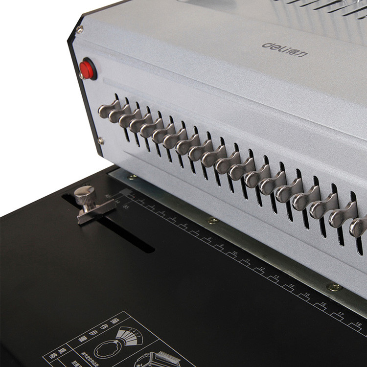 省力3883厚度电动梳式胶圈装订机装订得力3旅型收纳图片