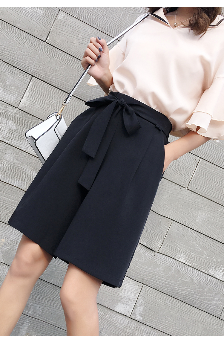 宽松短裤系带