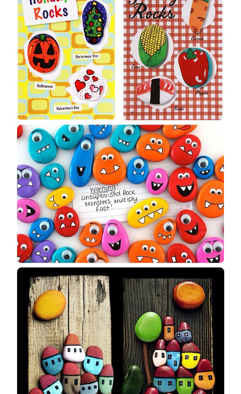 美乐儿童手工制diy创意绘画石头画 益智玩具幼儿园礼物jm05014
