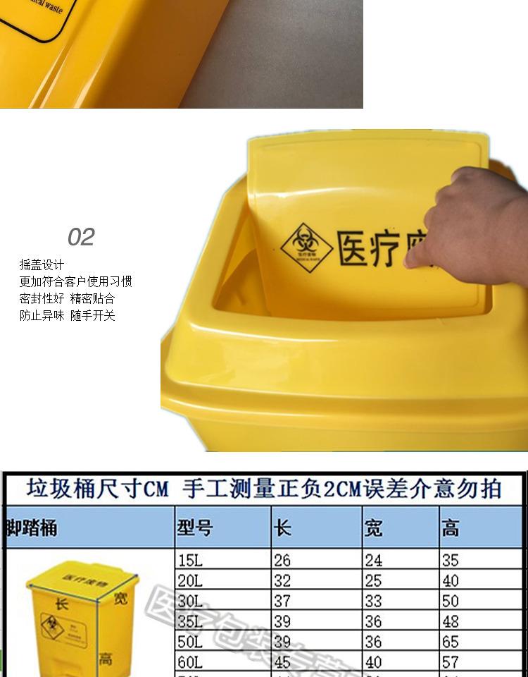 包邮医疗垃圾桶摇盖黄色诊所家用无盖废物利器盒10l20