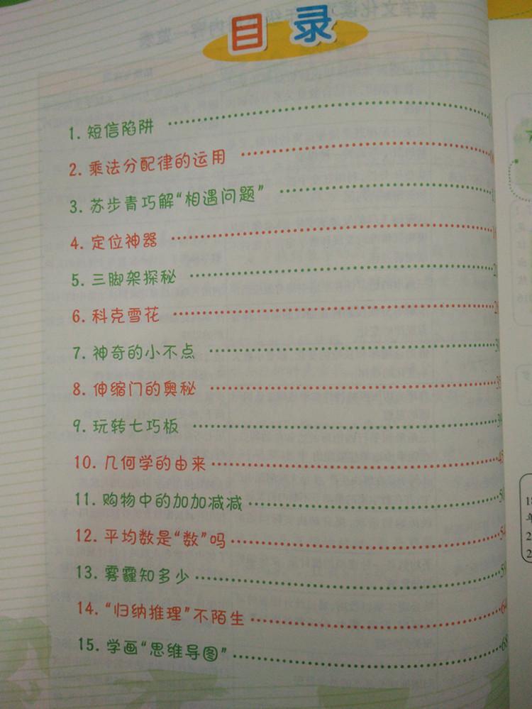小学 数学文化读本 四年级下册 4年级下册 数