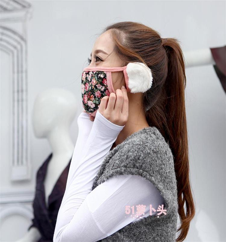 秋冬韩国时尚卡通可爱纯棉口罩