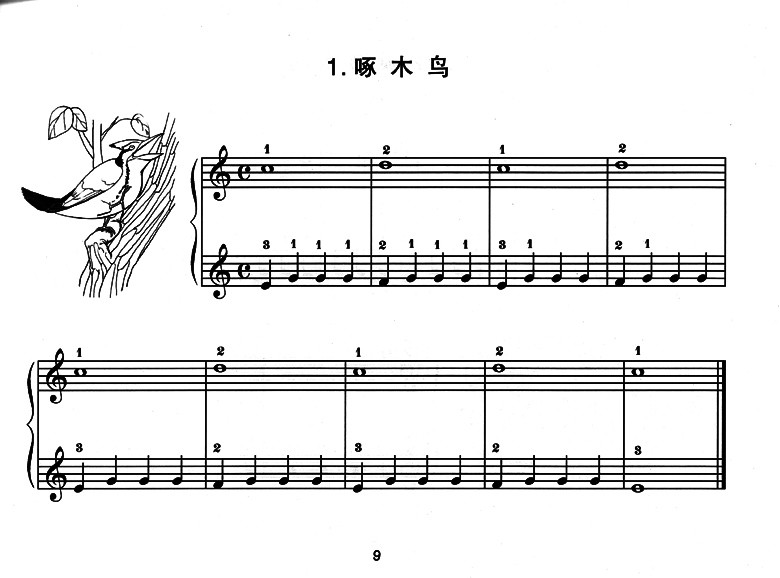 钢琴简单谱子带数字