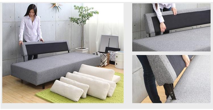 淮木(huaimu) 日式布艺沙发组合沙发床小户型宜家双人图片