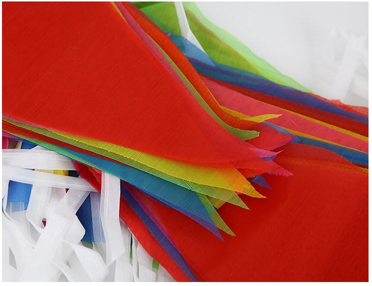婚庆结婚用品拉花彩色三角旗帜挂旗创意婚礼婚房装饰布置彩旗一包