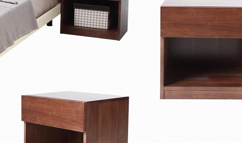曲美家具家居 北欧简约床头柜 卧室置物床头柜 现代家具 储物低柜