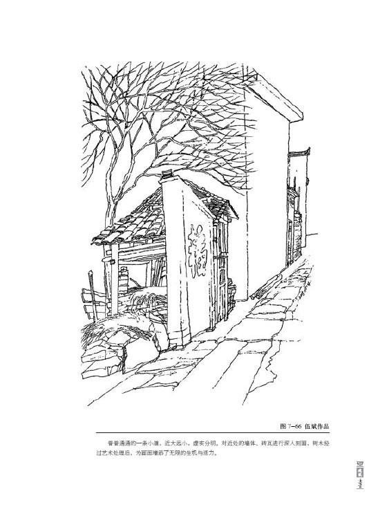 建筑初学手绘线稿
