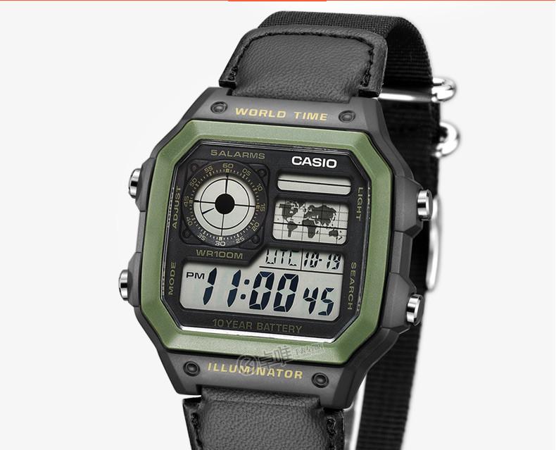 【卡西欧卓唯手表专卖店】卡西欧电子表 方形