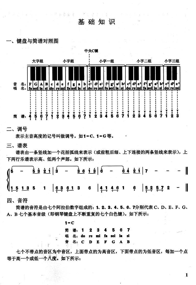 《中老年键盘弹奏入门:钢琴电子琴经典 简谱 曲99首》