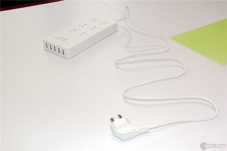 orico/奥睿科 hpc-6a5u 电源插座usb智能充电插排接线板独立开关防雷