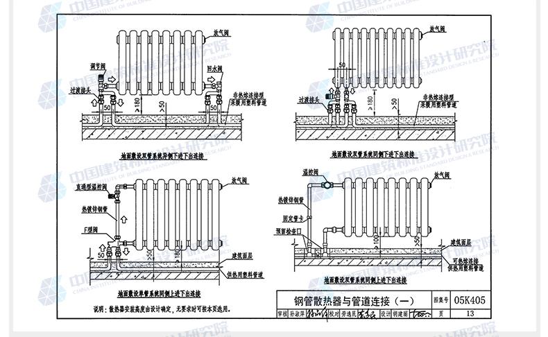 《05K405新型散热器安装与建筑》中国选用标建筑房屋v房屋层高规定图片