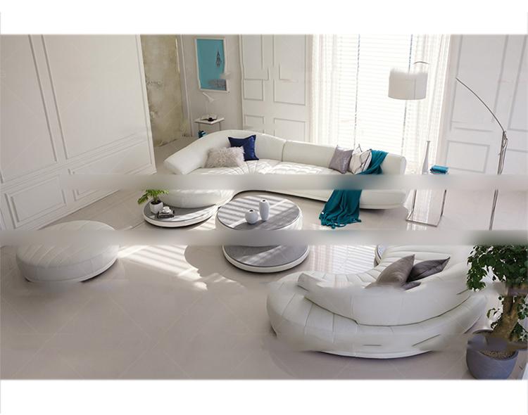 淮木皮艺家具皮沙发北欧家具中强弧形v家具淮、创意沙发图片