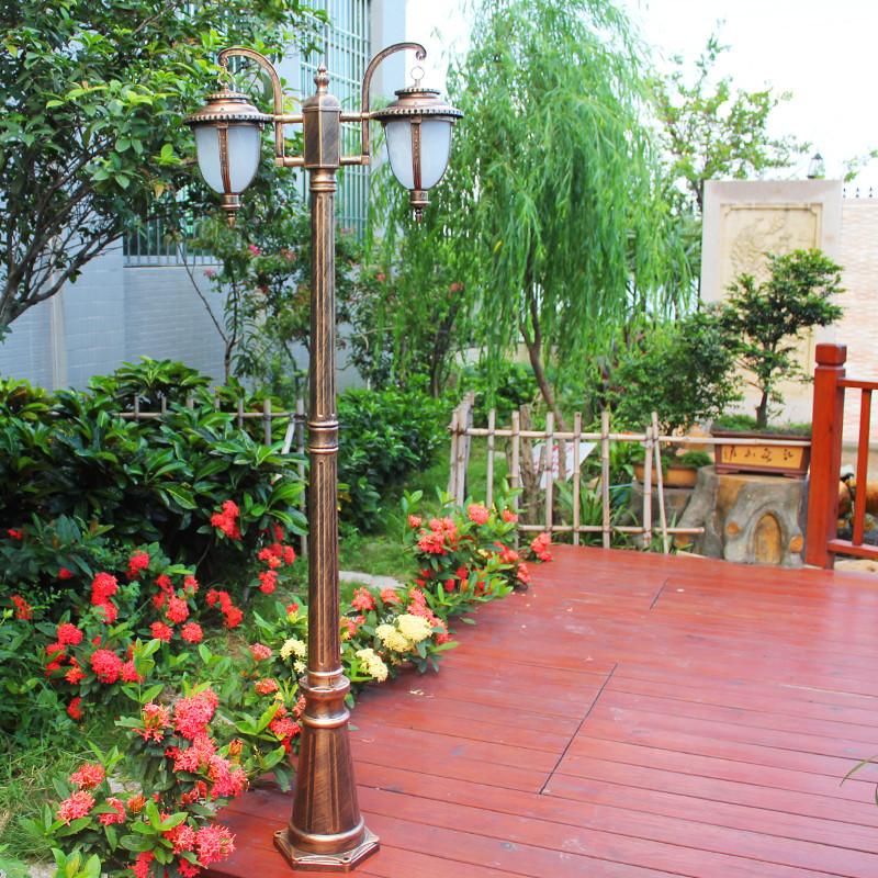 爱惟欧式户外路灯道路花园景观高杆灯别墅庭院装饰铝质草坪灯8001