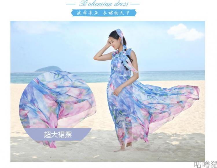 可莉允时尚品牌12岁沙滩女孩长裙5女童裙夏装homa奥马图片