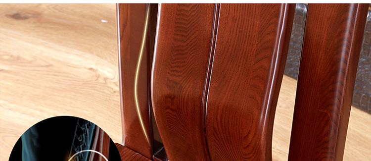 【光明家具旗舰店】光明家具水曲柳实木餐桌椅红木家具蜡木自制图片