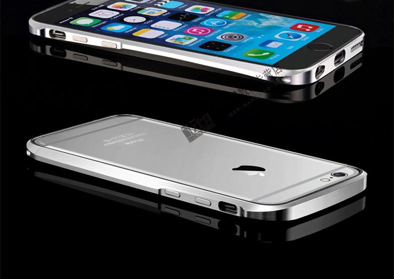 苹果6手机壳 双色小蛮腰金属边框 苹果6手机套 iphone6保护套 苹果6