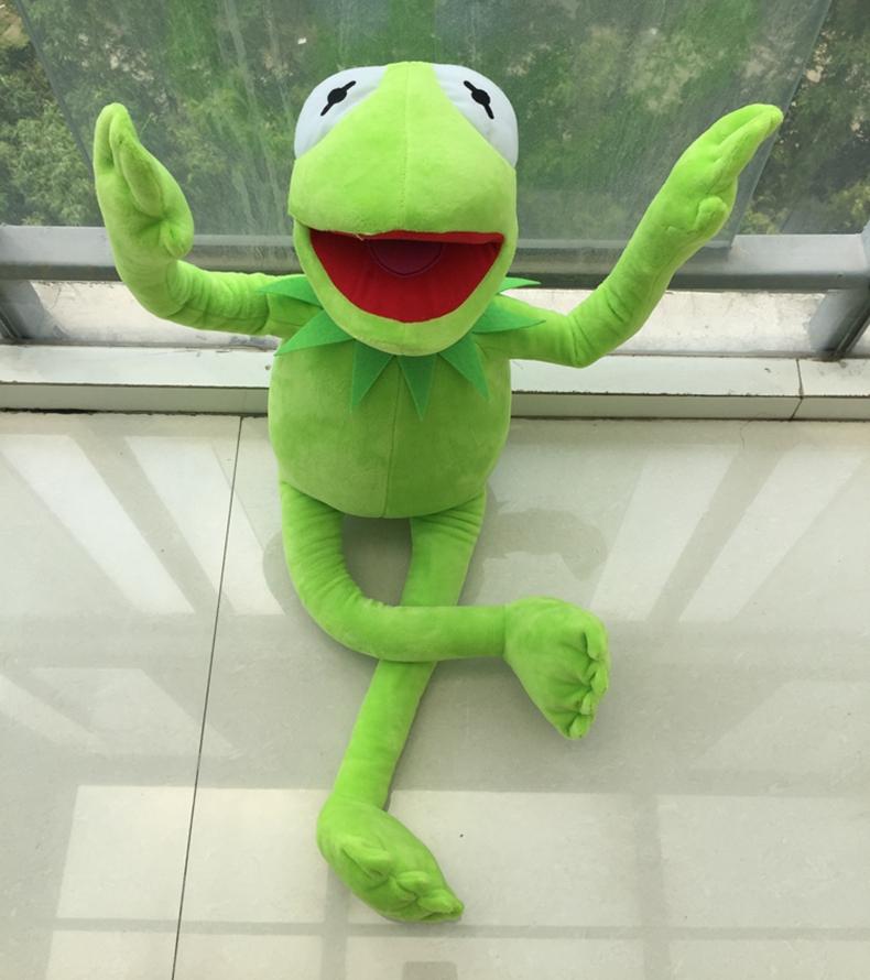中天乐 芝麻街superme科密特青蛙kermit玩偶公仔玩具礼物凹造型 绿色图片