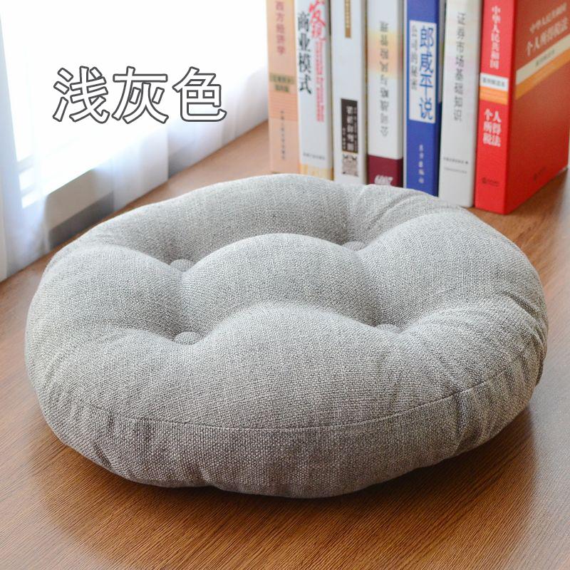亚麻坐垫加厚大榻榻米圆形布艺瑜伽打坐禅修飘窗地板椅子垫