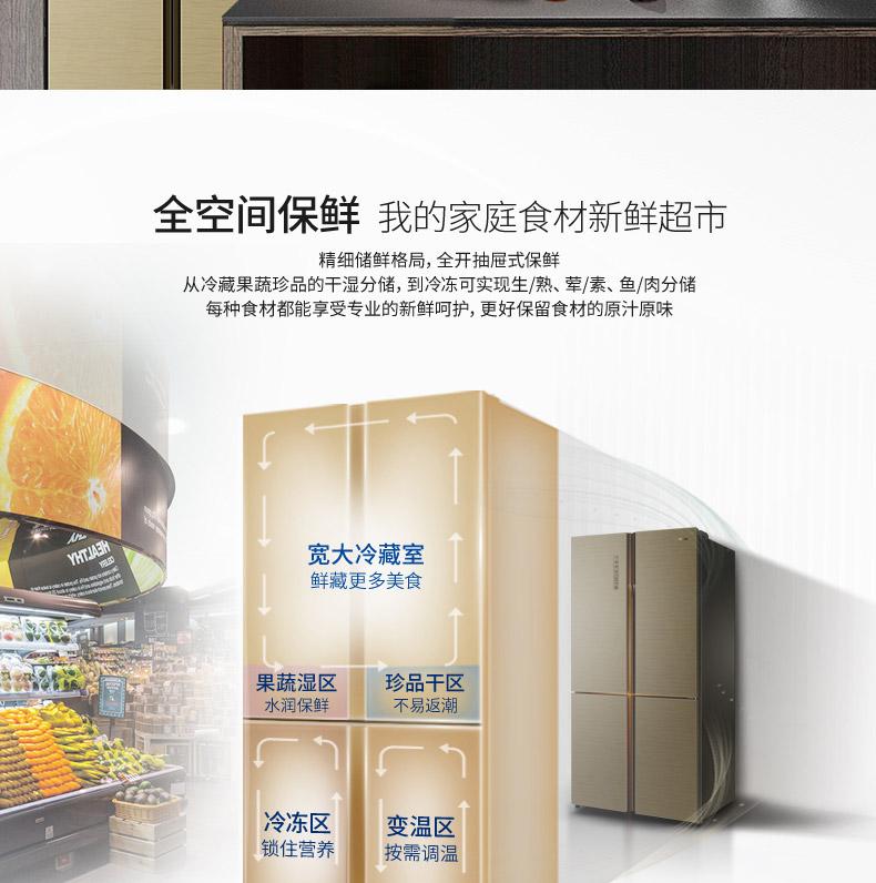 【苏宁专供】海尔冰箱BCD-620WDGF