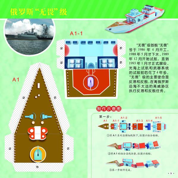 小小军事迷·大型手工仿真书:铠甲勇士·护卫舰