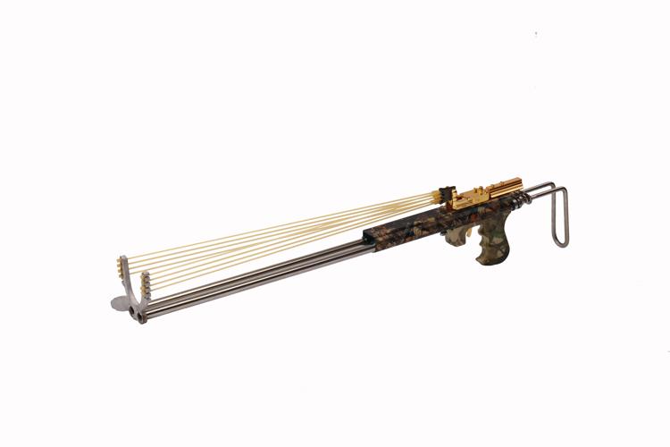 休闲娱乐器材 弹弓枪 户外防身滑弹弹弓 合金弹