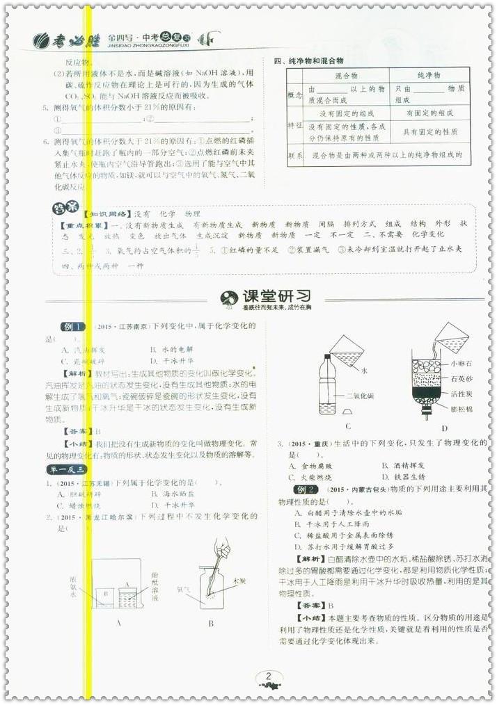 《2016中考总v化学化学沪教版高分学案春雨教如皋市初中滨江图片