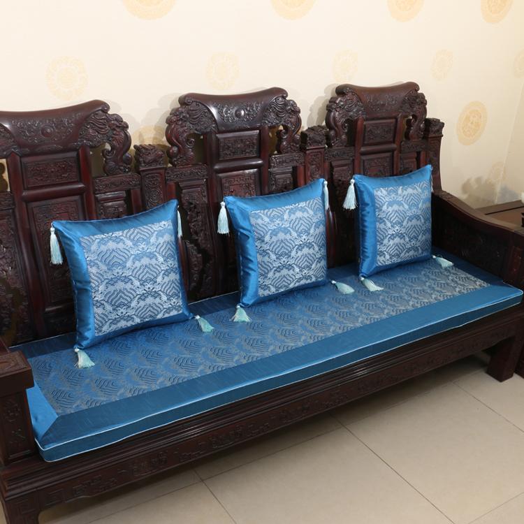 定做中式红木沙发垫坐垫实木沙发垫子抱枕靠垫坐垫婚庆家具