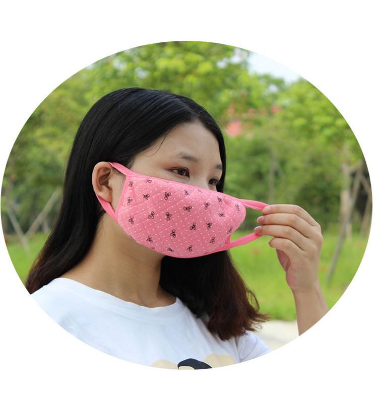 卡通口罩女可爱口罩韩国时尚冬季口罩保暖加厚女士韩版纯棉布全棉 k
