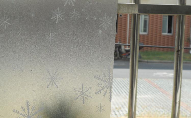 高档印花磨砂玻璃贴膜不透明窗户贴纸雪花窗