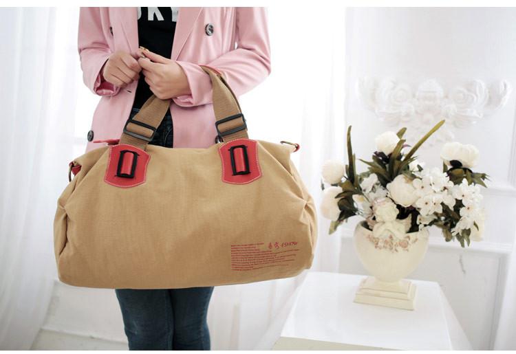 帆布包女包韩版手提包休闲品牌女士包包学院风