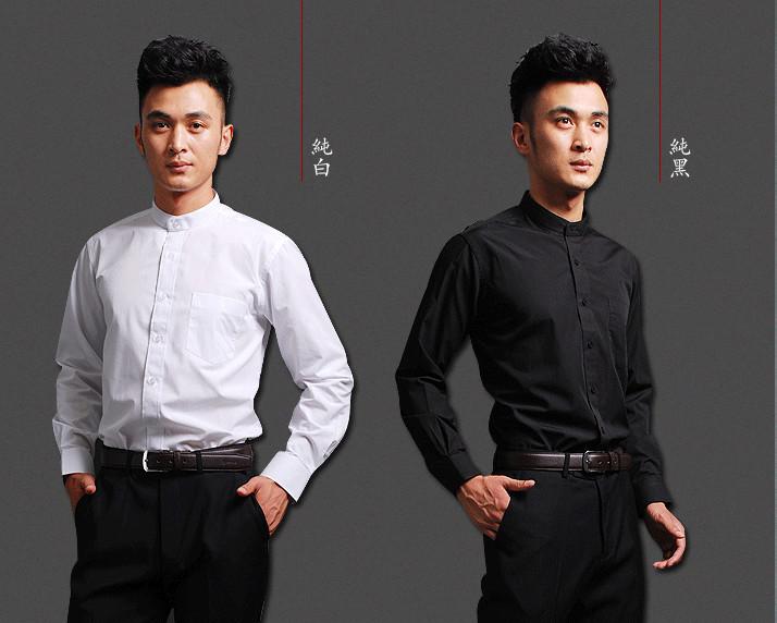 中式中山装衬衫